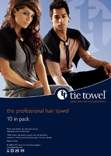 Tie Towel pack of 10 - Bleach and Tint Resistant