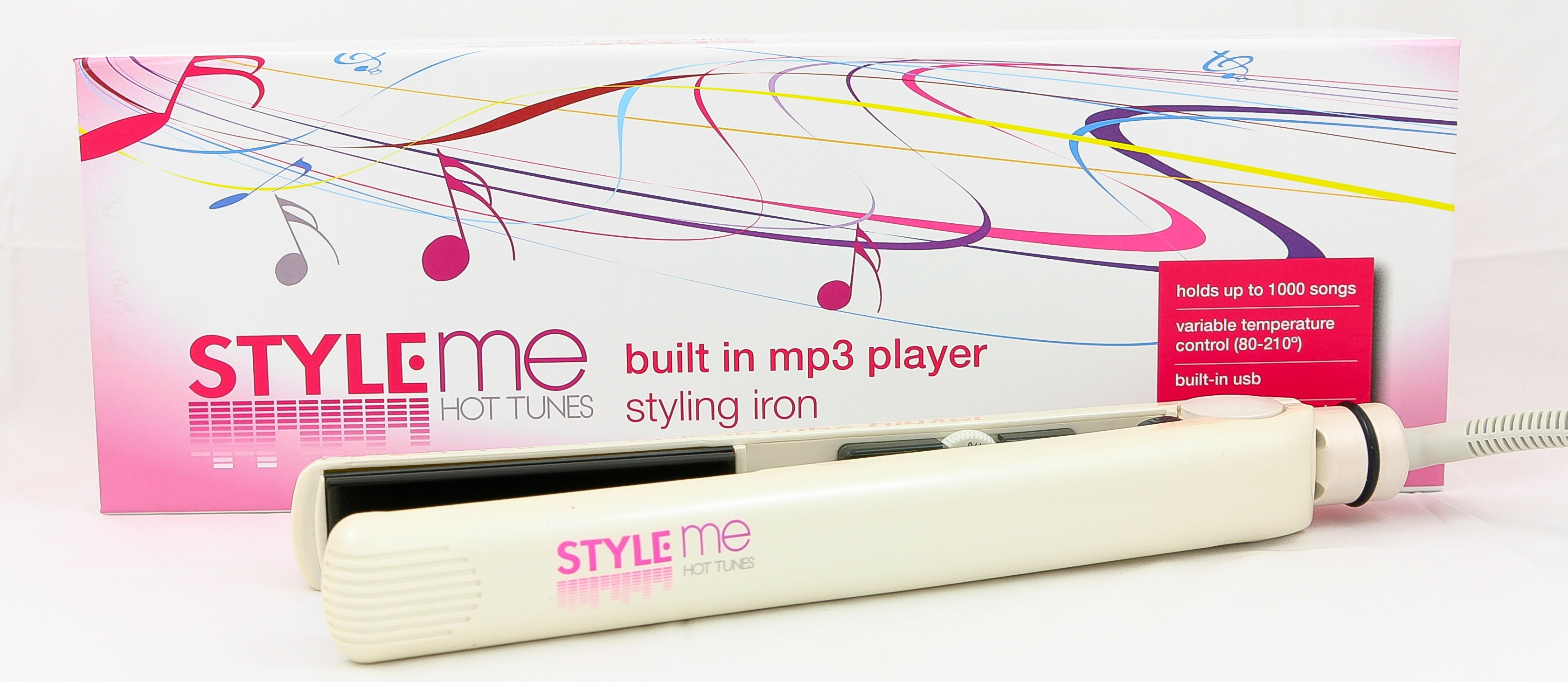 Style-Me Straightener With Built in MP3 Player