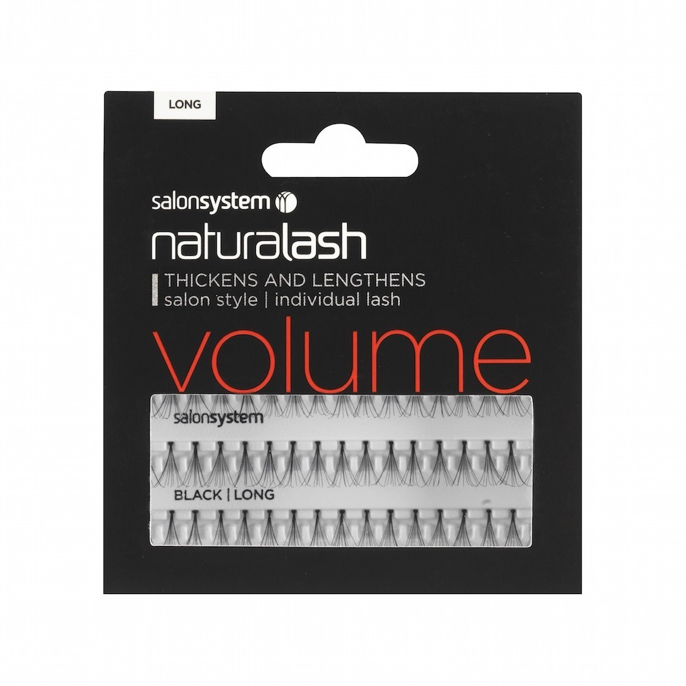 Salon System Individual Lashes Flare Black long