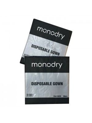 Monodry Disposable Hairdressing Gowns Clear Pack of 50