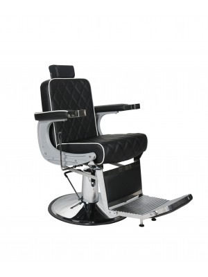 Salon Fit - Chrysler Barbers Chair - Black With White Piping