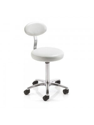 REM Cutting Stool with Backrest White
