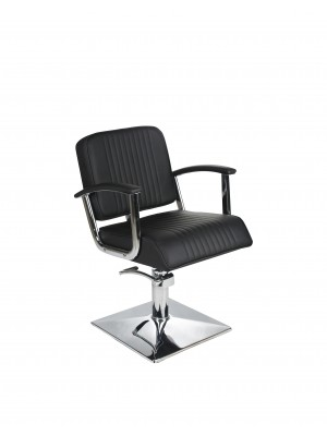Salon Fit - Madison Styling Chair - Black With Black Piping