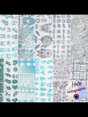 Halo Create - Foil - Holographic Patterns (Various) pk10