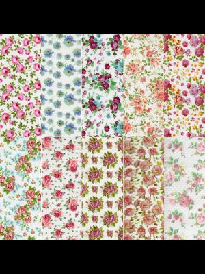 Halo Create - Foil - Vintage Floral pk10