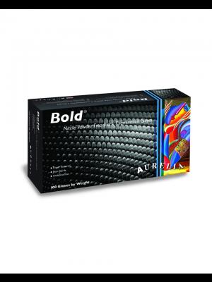 Bold Nitrile Powder Free Black Gloves 100pk Small
