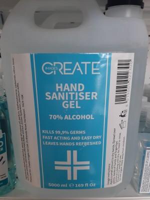 Create Images Hand Sanitizing Gel 5000ml