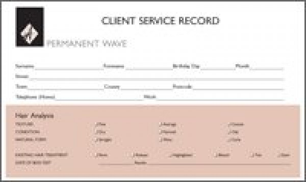 Permanent Wave Record Card Hairdressing Accessories Hair